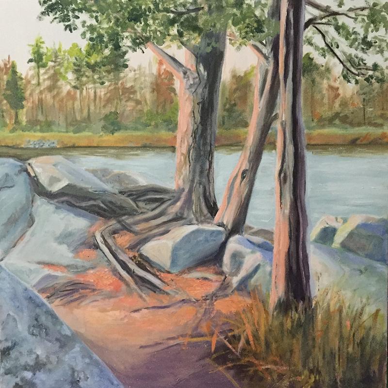 "Amesbury, 20"" x 20"" Oil on Canvas"
