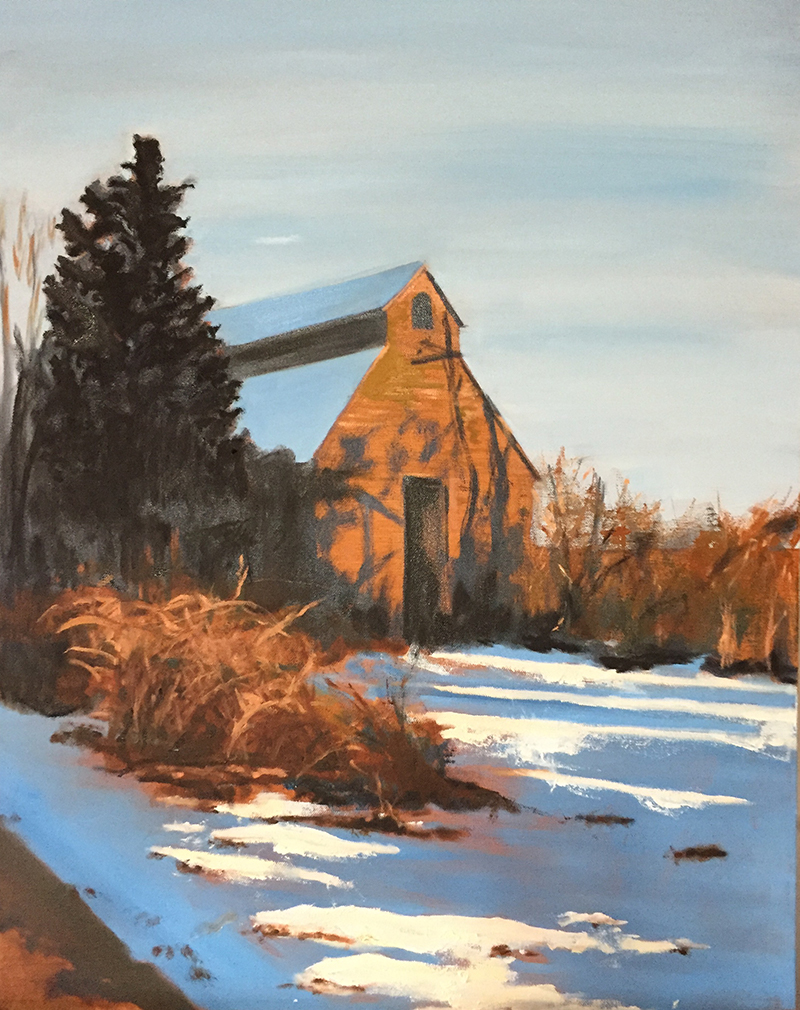 Barn, 20 x30 Oil on Canvas